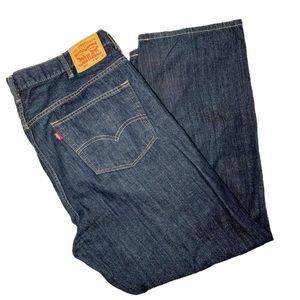 Levi's 559 Men's Dark Wash Jeans Sz 44/32